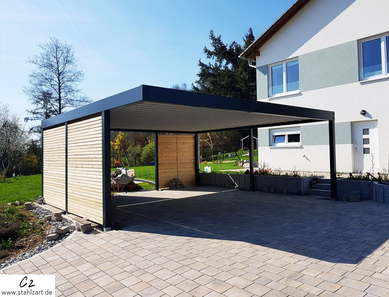 stahlzart metall carports parktraum. Black Bedroom Furniture Sets. Home Design Ideas